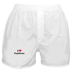 I Love Papillons Boxer Shorts