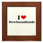 I Love Newfoundlands Framed Tile