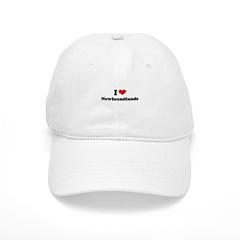 I Love Newfoundlands Baseball Cap