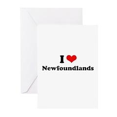 I Love Newfoundlands Greeting Cards (Pk of 20)