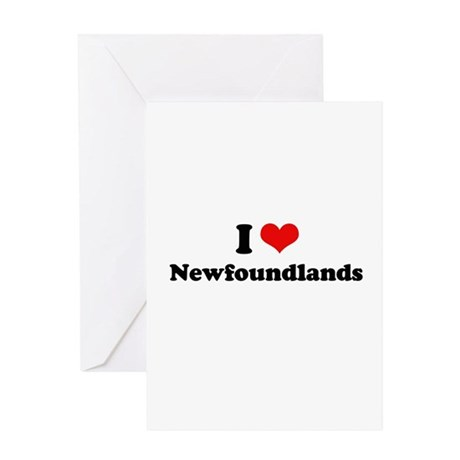 I Love Newfoundlands Greeting Card