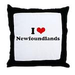 I Love Newfoundlands Throw Pillow