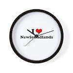 I Love Newfoundlands Wall Clock