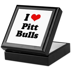 I Love Pitt Bulls Keepsake Box