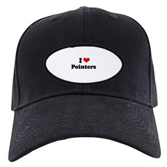 I Love Pointers Black Cap