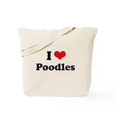 I Love Poodles Tote Bag
