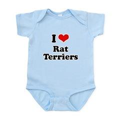 I Love Rat Terriers Infant Bodysuit