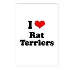 I Love Rat Terriers Postcards (Package of 8)
