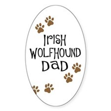 Irish Wolfhound Dad Oval Decal