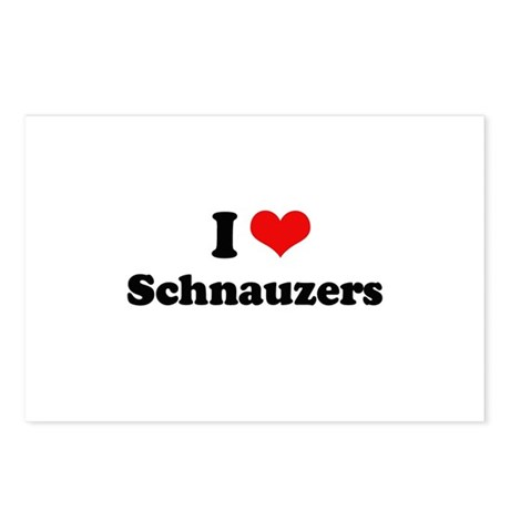 I Love Schnauzers Postcards (Package of 8)