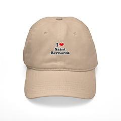 I Love St. Bernards Baseball Cap