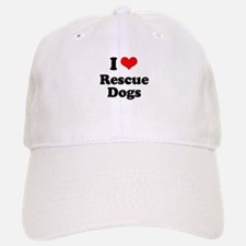 I Love Rescue Dogs Baseball Baseball Cap