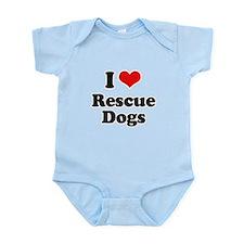 I Love Rescue Dogs Infant Bodysuit