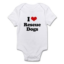 I Love Rescue Dogs Infant Bodysuit