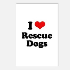 I Love Rescue Dogs Postcards (Package of 8)