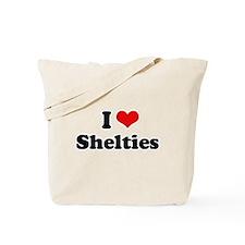 I Love Shelties Tote Bag