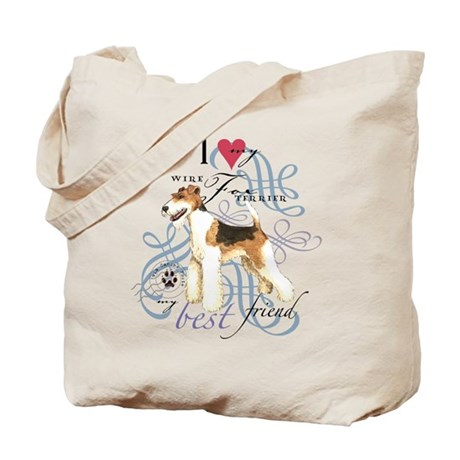 Wire Fox Terrier Tote Bag