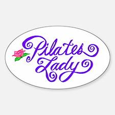 Pilates Lady Sticker (Oval)