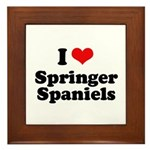 I Love Springer Spaniels Framed Tile