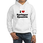 I Love Springer Spaniels Hooded Sweatshirt