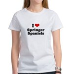 I Love Springer Spaniels Women's T-Shirt