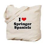 I Love Springer Spaniels Tote Bag