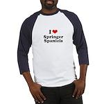 I Love Springer Spaniels Baseball Jersey