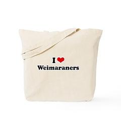 I Love Weimaraners Tote Bag