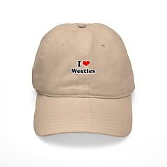 I Love Westies Baseball Cap