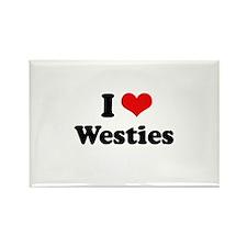 I Love Westies Rectangle Magnet