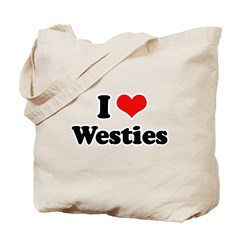 I Love Westies Tote Bag