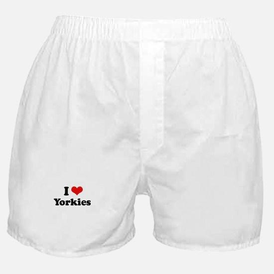 I Love Yorkies Boxer Shorts