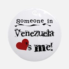 Venezuela Loves Me Ornament (Round)