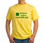 Everyone loves a drunk Irish girl Yellow T-Shirt