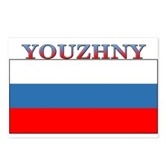 Youzhny Russia Flag Postcards (Package of 8)
