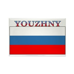 Youzhny Russia Flag Rectangle Magnet (10 pack)