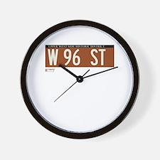 96th Street in NY Wall Clock