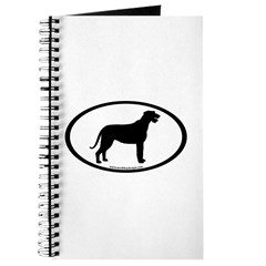 Irish Wolfhound Oval Journal