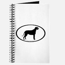 Irish Wolfhound Oval Journal