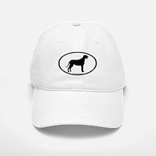 Irish Wolfhound Oval Baseball Baseball Cap