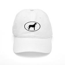 Irish Wolfhound Oval Baseball Cap