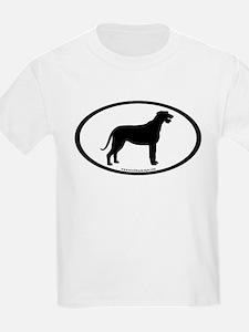Irish Wolfhound Oval T-Shirt