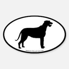Irish Wolfhound Oval Decal