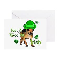 Wee Bit Irish Chihuahua Greeting Cards (Pk of 20)