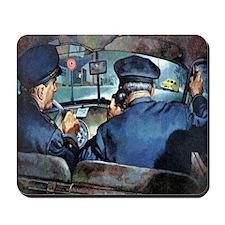 Vintage Police Mousepad