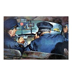 Vintage Police Art Postcards (Package of 8)