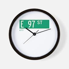 97th Street in NY Wall Clock
