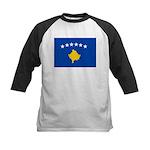 Kosovo Flag Kids Baseball Jersey