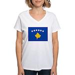 Kosovo Flag Women's V-Neck T-Shirt