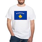 Kosovo Flag White T-Shirt